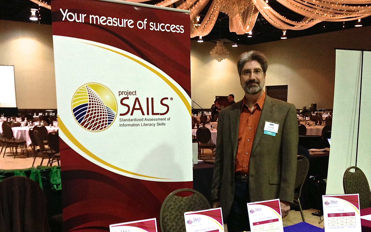 Company president Rick Wiggins at our booth for the 2012 Annual ALAO Conference